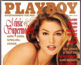 Vintage Playboy Magazine May 1996, Cindy Crawford, Ray Bradbury, Lou Dobbs, Newt, Claudia Schiffer, Anna Nicole Smith, Vintage Playboy