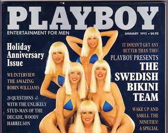 Vintage Playboy Magazine January 1992 Holiday Issue