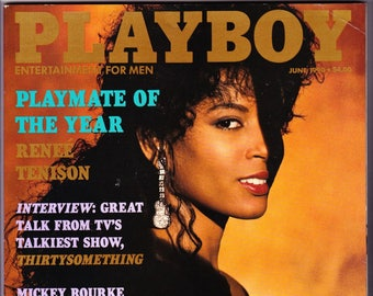 Vintage Playboy Magazine June 1990 With Rene Tenison, Thirtysomething, Mickey Rourke, Carre Otis, Wild Orchid And Mexico