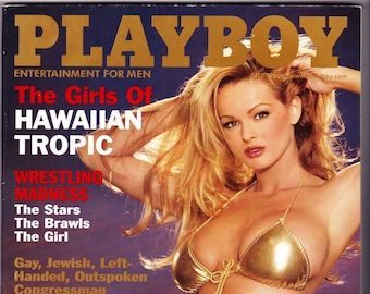 Vintage Playboy Magazine July 1999 with Brooke Richards, Barney Frank, Michael Moore, Karen Finley