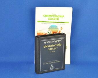 Vintage Atari 2600 Game, Championship Soccer, Atari, 1981 With Manual