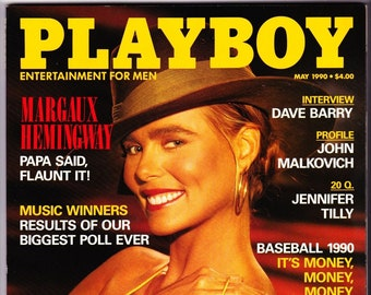 Vintage Playboy Magazine May 1990 with Margaux Hemingway, Dave Berry, Jennifer Tilly