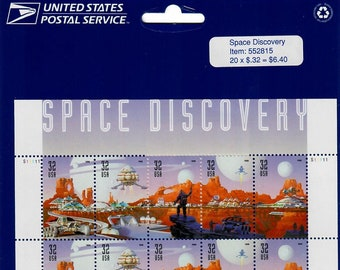 Vintage Stamps, Space Discovery 1998 32 Cent, Scott 3238-42