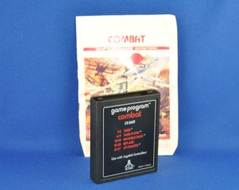 Vintage Atari 2600 Game, Combat, Atari, 1977 With Manual