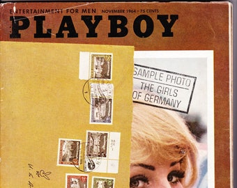 Vintage Playboy Magazine November 1964 With George Wallace, Xanadu, Pirates, Padre Island, Playboy Cars, Germany And Pool