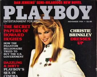Vintage Playboy Magazine November 1984 With Christie Brinkley, José Napoleón Duarte, President, El Salvador, Leigh Steinberg And Athletes