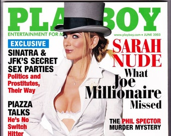 Playboy Magazine June 2003 with Joe Millionaire Sarah Kozer, New York Mets Mike Piazza, Rapper Nelly