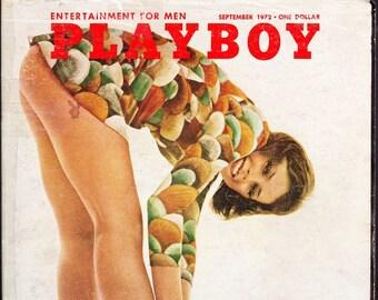 Vintage Playboy Magazine September 1972 with Bernadette Devlin, Woody Allen, Skinetic Art, Drug Explosion, Campus Nudity