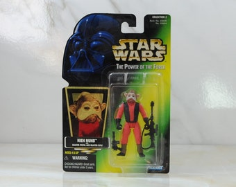 Vintage Star Wars Action Figure Nien Nunb 1997 The Power of the Force, Hasbro Figure