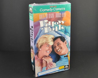 Vintage VHS Tape Pillow Talk 1959 Remake starring Rock Hudson & Doris Day