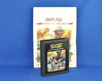 Vintage Atari 2600 Game, Outlaw, Atari, 1979 With Manual