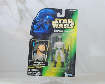 Vintage Star Wars Action Figure AT-ST Driver 1997 The Power of the Force, Hasbro Figure