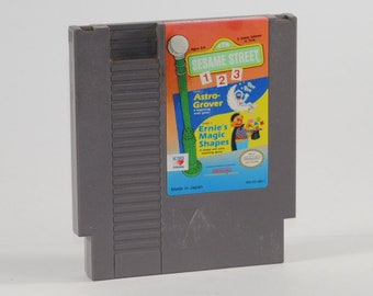 Vintage Nintendo Game Sesame Street 123 1989