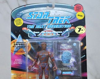 Vintage Star Trek Action Figure Lt Commander LaForge as a Tarachannen III Alien 6070 6033 1994 Next Generation