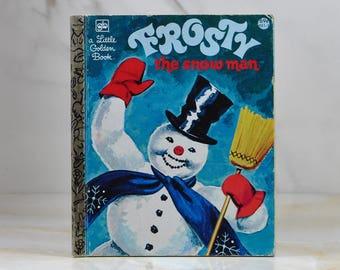 Vintage Frosty, The Snowman, 1980, Little Golden Book, Christmas, Magic Hat, Button Nose, Coal, Christmas Song, Gene Autry, Children, Winter