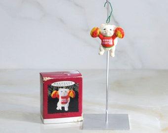 Vintage Hallmark Ornament, Super Sister Cheerleader Cat 1993