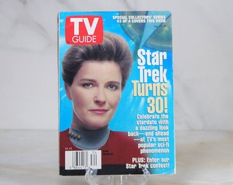 Vintage TV Guide Star Trek August 1996 Star Trek Turns 30 Kate Mulgrew TV Guides Special Collector's Series Celebrate Star Trek, Voyager