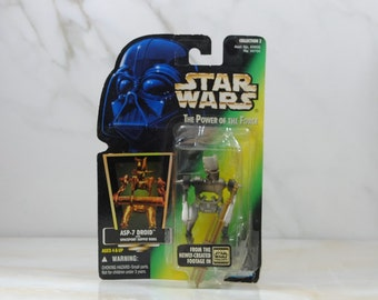Vintage Star Wars Action Figure ASP-7 Droid 1997 The Power of the Force, Hasbro Figure