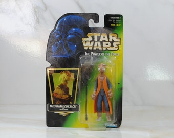 Vintage Star Wars Action Figure Saelt-Marae Yak Face 1997 The Power of the Force, Hasbro Figure