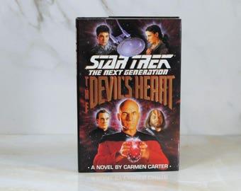 Vintage The Devil's Heart, Hard Back, Book, Star Trek, The Next Generation, 1993, Carmen Carter, Hardback, Legendary Object, Captain Picard
