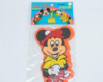 Vintage Disney Mickey Mouse Magnetic Memo Holder 1970s