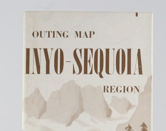 Vintage AAA Guide to Inyo-Sequoia California 1986 Map