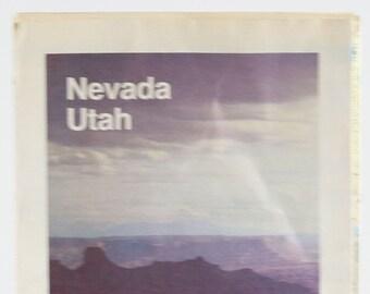 Vintage AAA Guide to Nevada - Utah 1980s Map