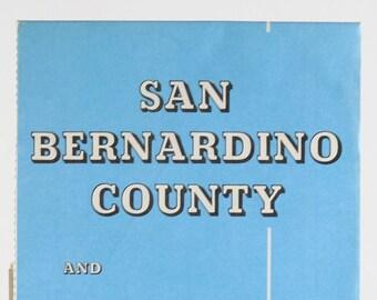 Vintage AAA Guide to San Bernardino County Las Vegas Area 1980s Map