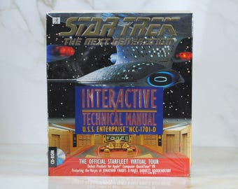 Vintage Star Trek Interactive Technical Manual, 1994, Virtual Tour, Simon & Shuster, Multimedia Breakthrough, Apple, Quicktime, PC Game