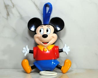 Vintage Illco Mickey Mouse Musical Lullaby CribToy, 1970s