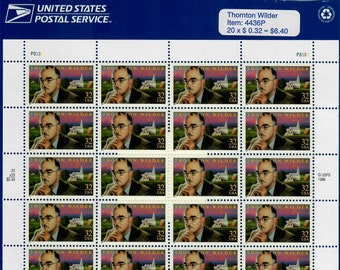 Vintage Stamps, Thornton Wilder 1997 32 Cent, Scott 3134
