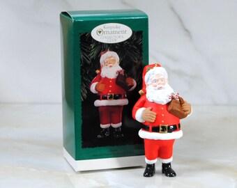 Vintage Hallmark Ornament, Santa, Hallmark Membership Edition, 1996, Keepsake Ornament, Christmas Decoration, Christmas Ornament
