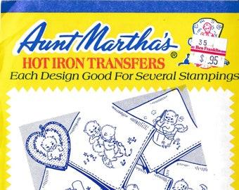 Aunt Martha's Hot Iron Transfers, Kitten Tea Towels #3606