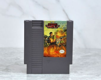 Vintage Nintendo Game Operation Wolf Take No Prisoners Taito 1987, NES, Video Game, Console Game, Vintage Game, Vintage Nintendo, War Game
