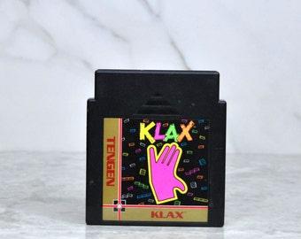 Vintage Nintendo Game Klax TenGen 1989, NES, Video Game, Console Game, Vintage Game, Vintage Nintendo, Vintage NES, Puzzle Game, Blocks