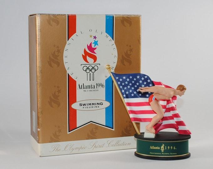 Featured listing image: Vintage Hallmark Keepsake Christmas Ornament, Atlanta 1996 Swimming Figure