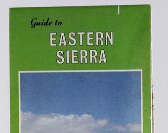 Vintage AAA Guide to Eastern Sierra 1984 Map