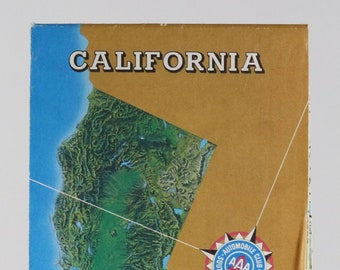Vintage AAA Guide to California 1986 Map