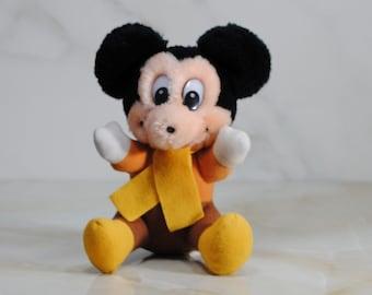 Vintage Walt Disney Mickey's Christmas Carol Stuffed Toy, 1980's
