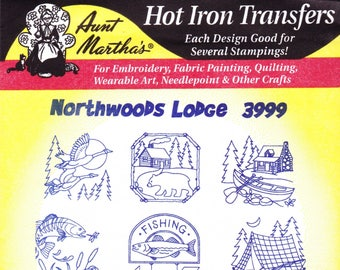 Aunt Martha's Hot Iron Transfer 3999, Northwoods Lodge