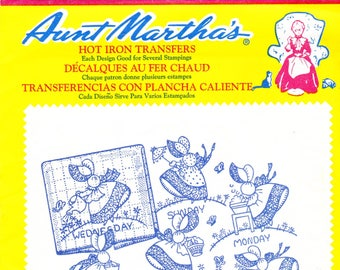 Vintage Aunt Martha's Hot Iron Transfers, Embroidery, Pattern, Needlepoint, Aunt Martha, Hot Iron, Transfer, 3216, Gay Colonial Miss