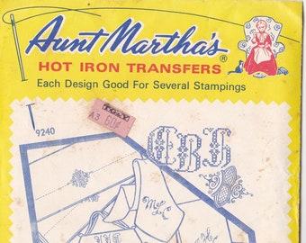 Vintage Aunt Martha's Hot Iron Assorted Alphabets #9240
