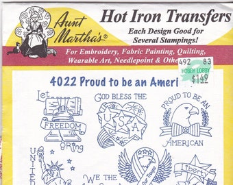 Vintage Aunt Martha's Hot Iron Proud to be an American 4022