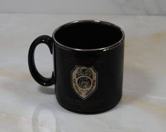 Vintage Greensboro North Carolina, Police Department, Coffee Cup, 1993, Bomb, Disposal Unit, Explorer Post, 241, Mug, Police Collectible