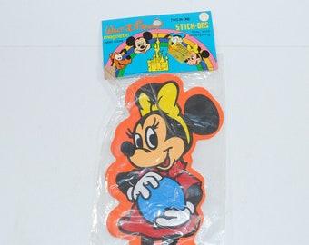 Vintage Disney Minnie Mouse Magnetic Memo Holder 1970s