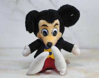 Vintage Plush Toy, Mickey Mouse, Walt Disney's Great Ice Odyssey, Disney, 1970s, Disney Productions, Collectible, Stuffed You, Walt Disney