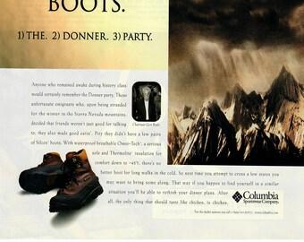 Vintage Magazine Ad Print Art, Columbia Sportswear, 1974