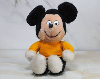 Vintage Plush Toy, Mickey Mouse, Disney, Knickerbocker, 1970s, Disney Productions