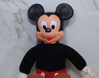 Vintage Mickey Mouse, Marching Mickey Mouse, Disney, Hasbro, Disney Productions, Collectible, 1970s, Walt Disney, Disney Toy, Mickey Doll