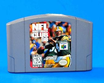 Vintage Nintendo 64 NFL Quarterback Club 99 1997, N64 Game
